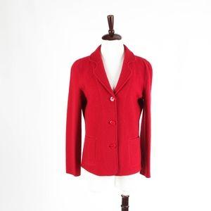 ARMANI COLLEZIONI – Red Wool Jacket – 12